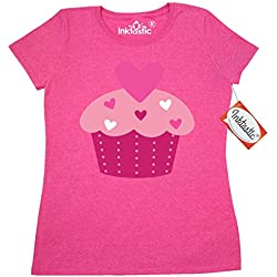 Inktastic Valentine's Day Cupcake Women's T-Shirt XX-Large Retro Heather Pink