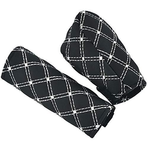 (LUNSOM Leather Car Handbrake Gear Shift Knob Cover Universal Case Sleeve Hand Break Protect Accessories Car Interior Decor)