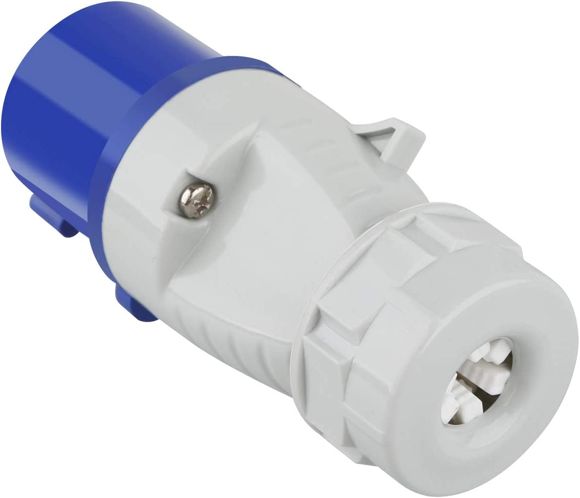 Azul M EGA MEGACUBE 16A 230V CEE Enchufe 2P+E Impermeable IP44