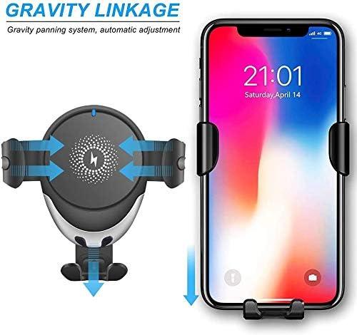 LY88 - Cargador de coche inalámbrico para iPhone, 10 W / 7,5 W Qi, carga rápida, soporte para teléfono de ventilación de coche, para iPhone 11 Pro / 11 / X/X Max/XR/Samsung S10, etc. TQ2K2vdS