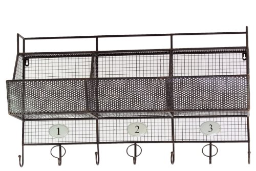 Urban Trends 37002 Decorative Metal Shelf and Coat Hanger by Urban Trends