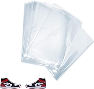 PVC Heat Shrink Wrap Bags, Sneaker PVC Heat Shoe Shrink Wrap Plastic Bags Wrap Large Shoes Protector for Effectively Avoid Sole Yellowing and Keep Dust Away, 100PCS, 11 X 18 Inches