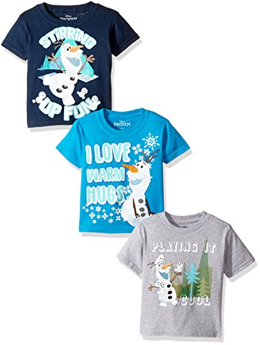 Disney Toddler Boys' Frozen Olaf 3-Pack Short Sleeve T-Shirt