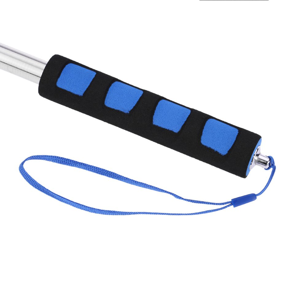 Anself Telescopic Hand Flagpole Stainless Steel Up To 2/Metres blue