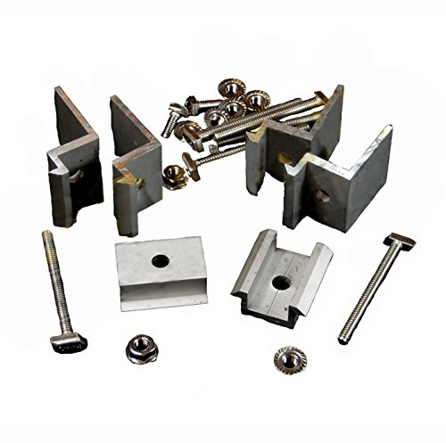 Unirac Top Mount Clamp Set - Size E, For 1 or 2 Modules - Clear, P/N 302005C-2