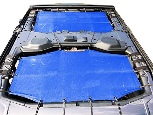 (Alien Sunshade Jeep Wrangler Sunshade Jeep JL 4 Door 2-Piece Front & Rear Jeep JL Sunshade Top 2018+ (Blue))