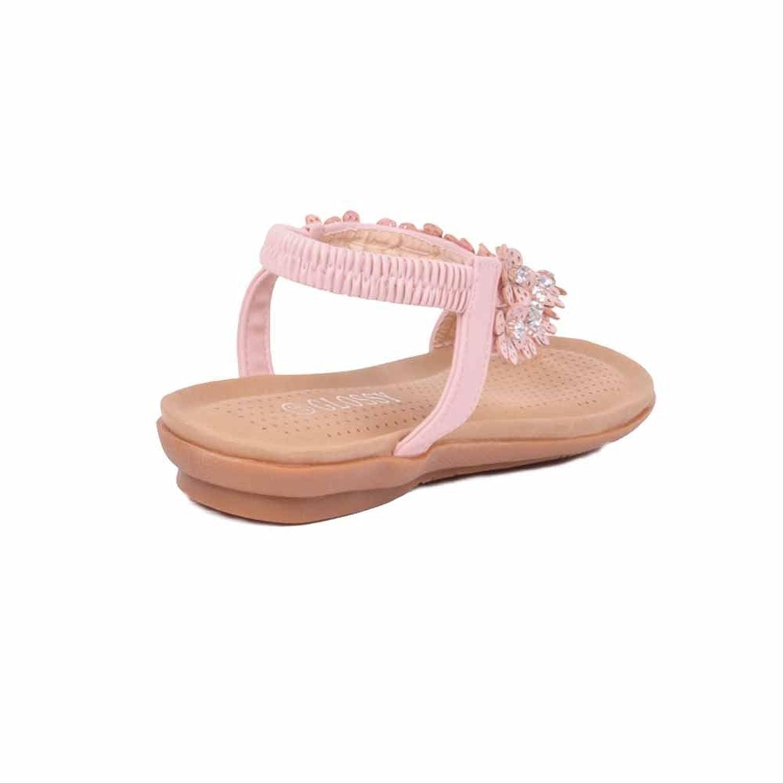 Neu Damen Diamant-zehensteg Knöchelriemen Sommer Strand Flache Sandalen  Schuhgröße - Glänzend Rosa, EU 39: Amazon.de: Schuhe & Handtaschen