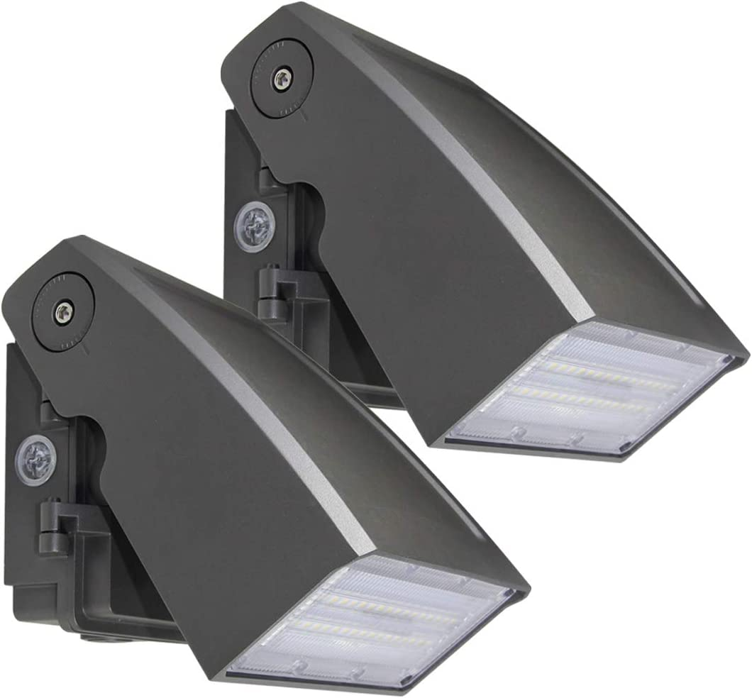 (2 Pack) Dakason 30W LED Wall Pack, Dusk-to-dawn Photocell, Adjustable Head, Full Cut-off Security Light, 5000K 3300lm Replaces 100-150W HPS/HID IP65 Waterproof Outdoor Lighting fixture ETL DLC Listed 51S0GhaBuAL