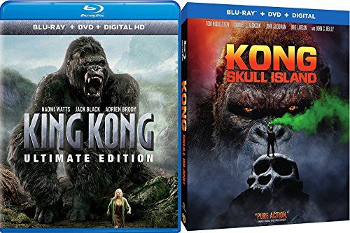 Ultimate Kong Double Feature Skull Island   King Kong Blu Ray   Dvd Amazing Gorilla Double Movie Feature