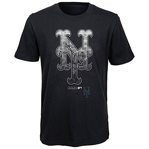 MLB New York Mets Youth Boys 8-20 Let Your Team Shine Tee-S (8), Black
