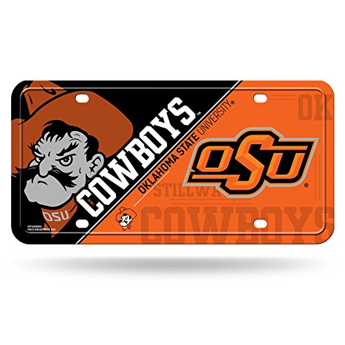 NCAA Oklahoma State Cowboys Metal License Plate Tag -