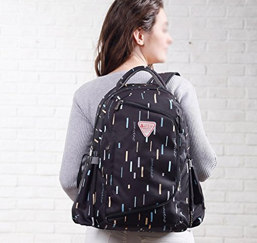 HJXJXJX Los pañales del bebé cambian los bolsos, multi-función impermeabilizan la bolsa de hombro de gran capacidad multicolor opcional empaqueta de la momia de la manera , Pink black