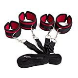 Interestingsport Bed Restraint System with Durable Ankle and Wrist Cuffs Fits Almost Every Mattress.