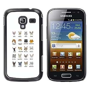 Be Good Phone Accessory // Dura Cáscara cubierta Protectora Caso Carcasa Funda de Protección para Samsung Galaxy Ace 2 I8160 Ace II X S7560M // Cat Breeds Sphynx Scottish Fold Himala