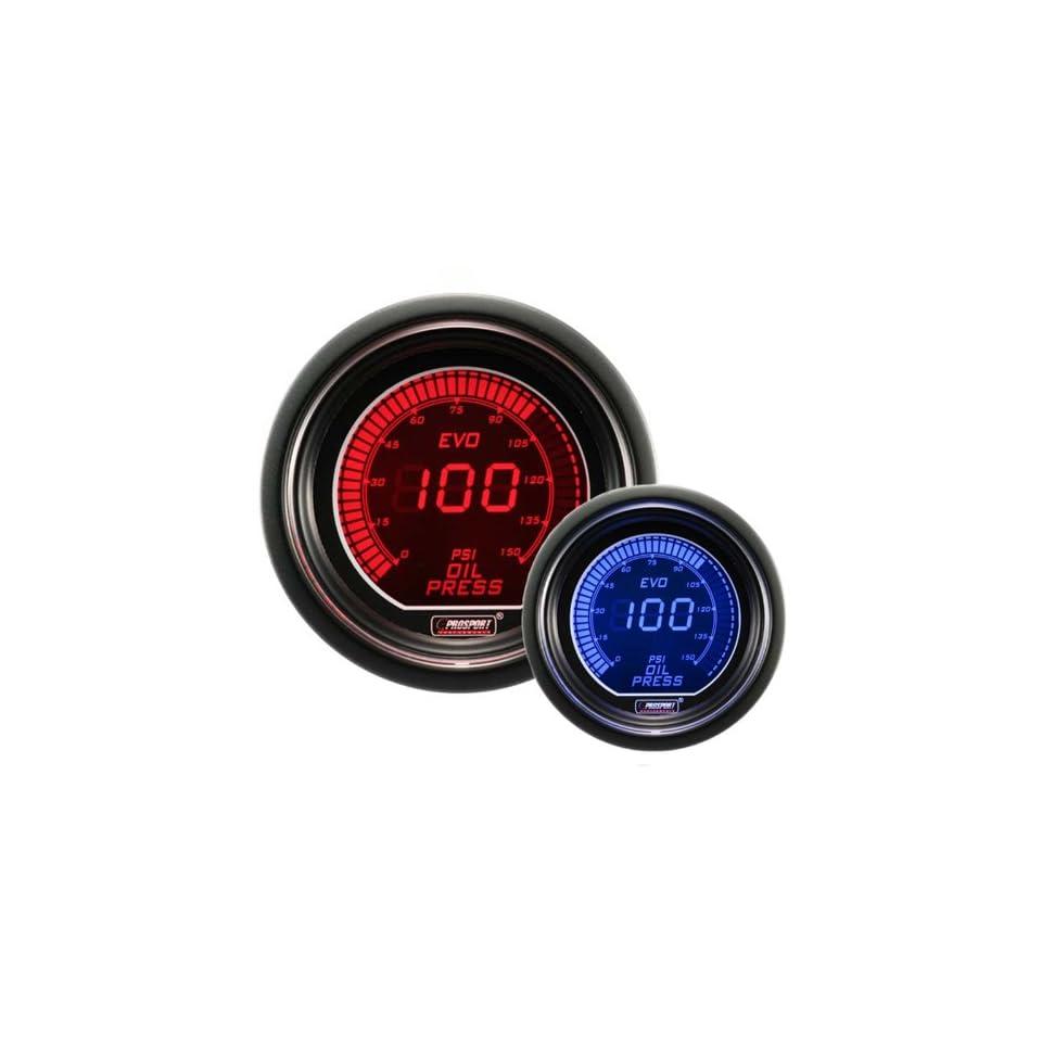 Oil Pressure Gauge  EVO Series Blue and Red Digital 52mm (2 1/16)