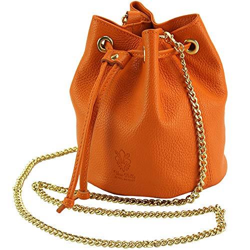 Calfskin Purse Bag - Ilaria Crossbody purses and Handbags for Women with Long Shoulder Chain Strap Calfskin Genuine Italian Soft Leather bags