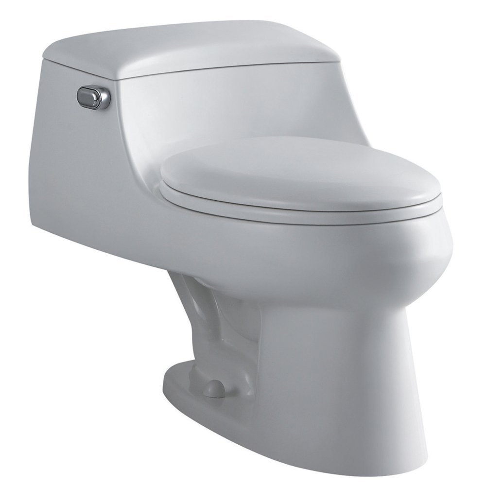Kingston Brass VWC1992 Congress One-Piece Toilet, White by Elements of Design