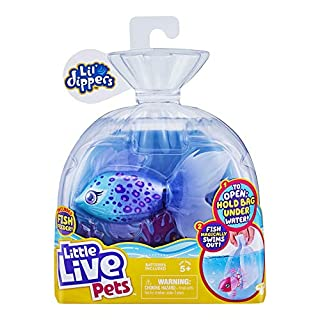 Little Live Pets Lil' Dippers Fish - Magical Water Activated Unboxing and Interactive Feeding Experience - Furtail