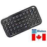 Bluetecs Mini Bluetooth 3.0 Rechargeable Keyboard Wireless for PS3, iPhone, iPad, TV Box and Smartphones