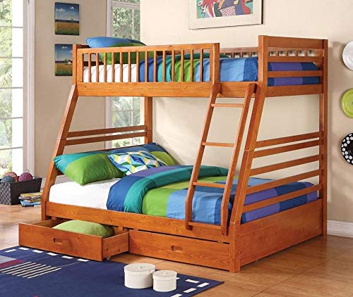 Honey Bed Sleigh Twin (Coaster Home Furnishings Ashton Twin Over Full Bunk Bed Honey)