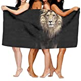 TPXYJOF Superfine Fiber Printing Bath Towel Animal Lion Print Soft Shower Towel 80X130cm For Bath Swimming Pool Yoga Pilates Picnic Blanket Towels