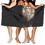 TPXYJOF Superfine Fiber Printing Bath Towel Animal Lion Print Soft Shower Towel 80X130cm For Bath Swimming Pool Yoga Pilates Picnic Blanket Towels