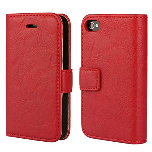 iphone 4 case wallet red - 2
