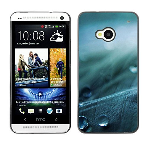 Soft Silicone Rubber Case Hard Cover Protective Accessory Compatible with HTC ONE M7 2013 - Plant Nature Forrest Flower 78