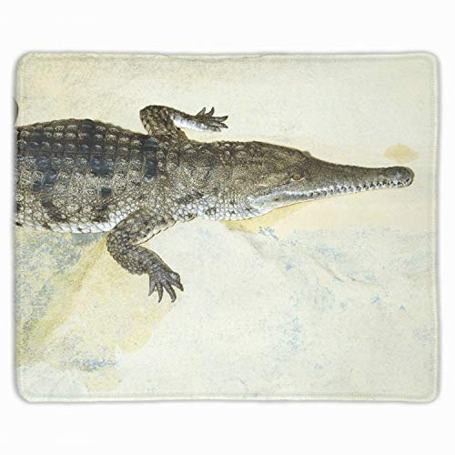 Reptiles Crocodile Sex Large Gaming Mouse Pad Extended Mat Desk Pad Mousepad Long Non-Slip Rubber Mice Pads Stitched Edges