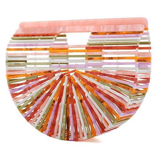 Lady Summer Handbag Women Beach Bag Women Girl Acrylic Large Tote Beach Bag Ark UNYU For Bag Clutch Colorful Female R4qZw4