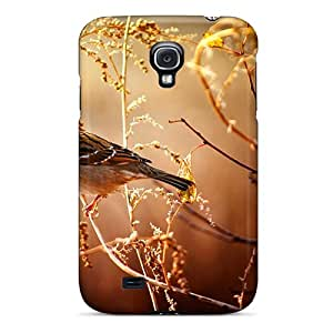 Premium Durable Little Bird Sitting On Tree Branch Fashion Tpu Galaxy S4 Protective Case Cover