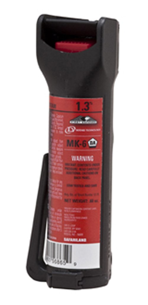 Defense Technology First Defense OC Stream MK-6 1.3% Solution Red Band Pepper Spray (0.68-Ounce) by Defense Technology