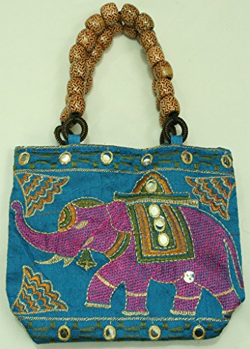 color Silkroude Lot Pcs Hand Indian Bag Christmas Vintage Women's Multi 5 vwvCqrAn