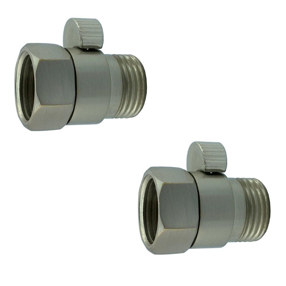 XVL Shower Head Shut-Off Valve Solid Brass 2 Pieces, Nickel Brushed PT02C