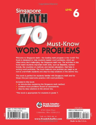 70 must know word problems grade 7 singapore math frank schaffer 70 must know word problems grade 7 singapore math frank schaffer publications 0017257140168 amazon books fandeluxe Image collections