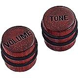 ギターベース用の2トーンボリュームコントロールノブセット木製の色