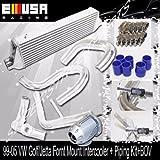#10: EMUSA FM Intercooler + Piping Kit+BOV fit 03-05 VW Golf Jetta GTI 1.8T Bolt on