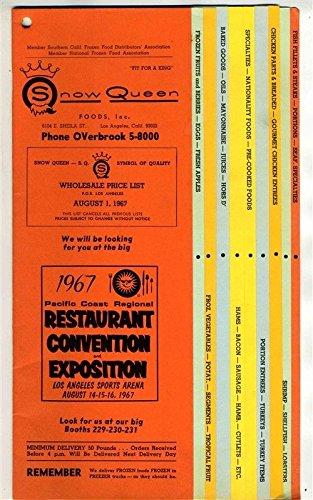 Snow Queen Foods Wholesale Price List 1967 Los Angeles California