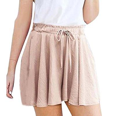 iYYVV Women Basic Stretchy Flared Casual Loose Short High Waist Mini Skater Skirt