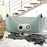 VERCART Large Soft Upholstered Headboard Filled Wedge Cushion Bed Backrest Positioning Support Sofa Bed Reading Pillow Office Lumbar Pad with Removable Cover Green Queen
