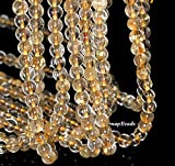 """6MM Golden Rutile Quartz Gemstone Grade A Round 6MM Loose Beads 15.5"""", Beading, Jewelry Making, DIY Crafting, Arts & Sewing by Perfect Beads Store"""