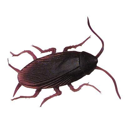 12 Fake Cockroaches Realistic Rubber Roach Gag Joke Prank: Toys & Games