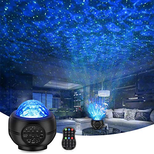 Star Projector Night Light Projector with LED Nebula Cloud, Galaxy Starry Projector Light Build-in Bluetooth Stereo Music Speaker for Kids Adults Bedroom/Party/Birthday Gifts/Home Theatre