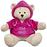 "Ganz 9"" Get Well Hoodie Bear Plush Toy, Pink"