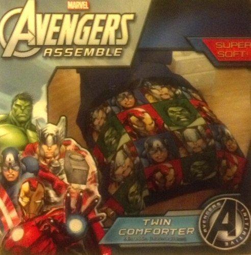 Marvel Avengers Assemble Twin Comforter 64'' X 86''