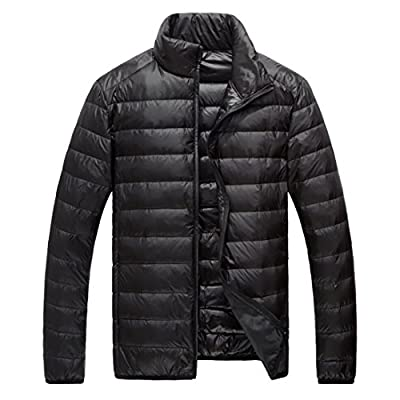 Discount ainr Men's Winter Coat Packable Ultra Lightweight Down Jacket Puffer Down Jacket for cheap