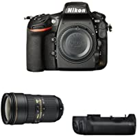 Nikon D810 FX-Format DSLR Camera with 24-70mm Lens Battery Bundle