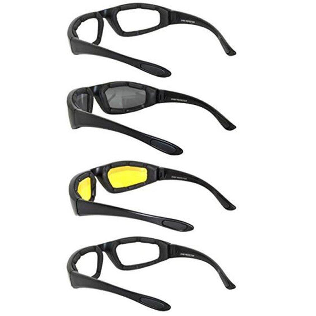 Gafas para Moto y Montar Juego de 4 pares de Gafas Para Ciclistas Todo Tiempo Para Actividades al Aire Libre