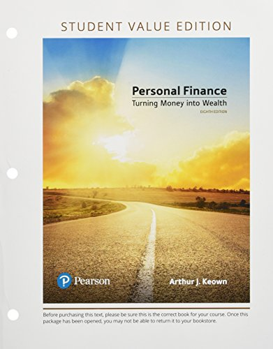Personal Finance, Student Value Edition (8th Edition) (The Pearson Series in Finance)
