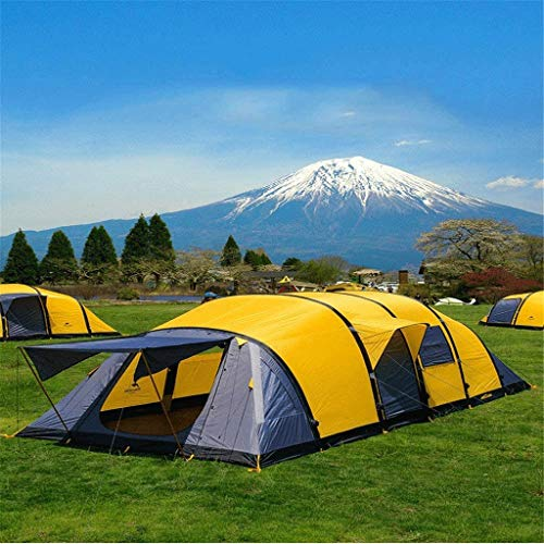 no-logo Tent Windproof Field Camping Outdoor Inflatable Tent 5-10 People Four Two Room one Hall Oversized Tent Suitable for Camping
